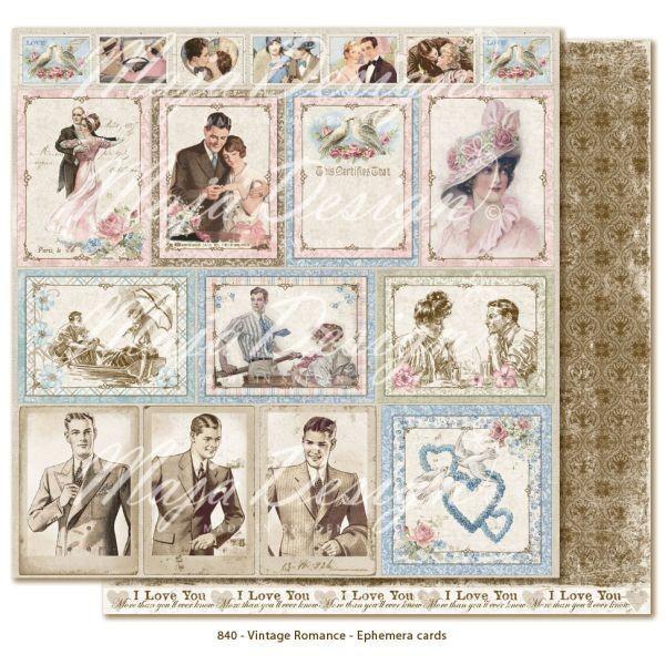 Maja Design Vintage Romance Ephemera Cards