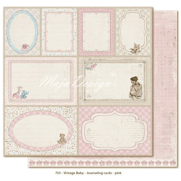 Maja Design Vintage Baby Journaling Cards Pink