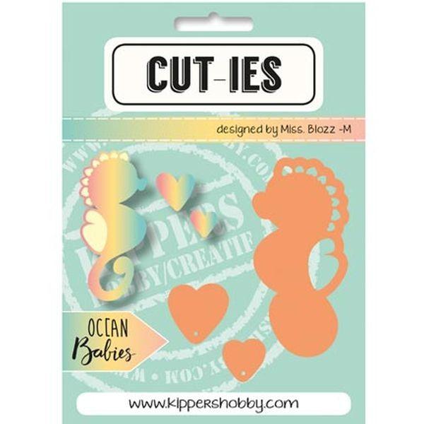 CUT-IES Ocean Babies Seahorse - Hearts