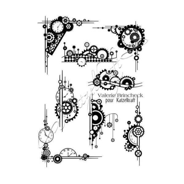 Katzelkraft Tampon A5 Steampunk Element