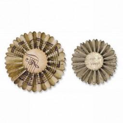 Tim Holtz Alterations Decorative Strip Mini Paper Rosettes