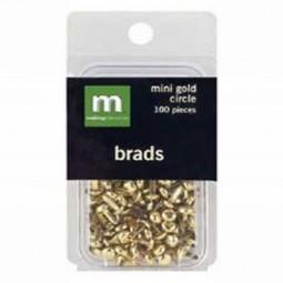 Making Memories Mini Brads Circle Gold