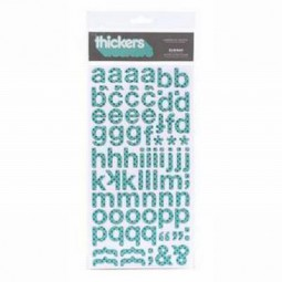AC Thickers Chipboard w/Glitter Subway Polka Dot - Robin´s