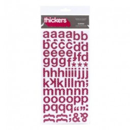 AC Thickers Chipboard w/Glitter Subway Polka Dot - Mulberry