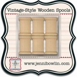 Jenni Bowlin Vintage-Style Wooden Spools