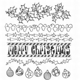 Dylusions Clingstamps Christmas Borders