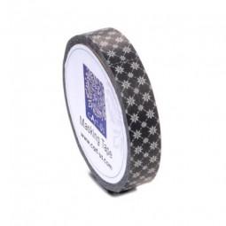 cArt-Us Masking Tape Raute/Blume/Schwarz