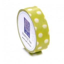 cArt-Us Masking Tape Punkte Grün-Weiss