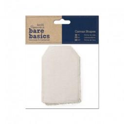 Papermania Bare Basics Canvas Shape Tag