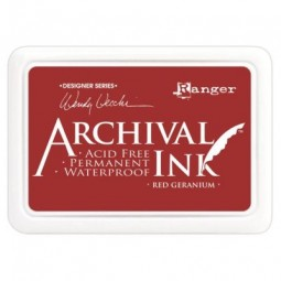 Ranger Archival Ink Pad by Wendy Vecchi Red Geranium