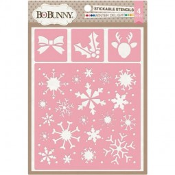 BoBunny Press Essentials Stickable Stencil Winter Delight