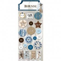 BoBunny Press Sleigh Ride Buttons