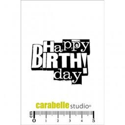 Carabelle Studio Tampon Art Stamp Mini Happy Birthday