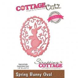 Cottage Cutz Die Spring Bunny Oval