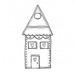 Joggles Artisan Rubber Stamp Wonky House No.5