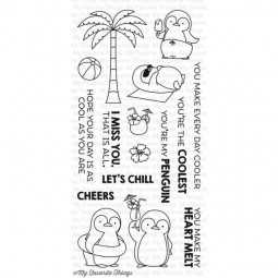 MFT Bundle Clearstamps & Dies Penguins in Paradise