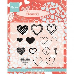 Marianne D Clearstamps Heart Set