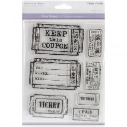 Forever in Time Clearstamps Tickets