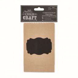 Papermania Chalk Kraft Chalkboard & Kraft Paper Bags