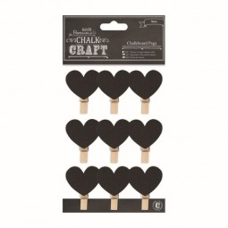 Papermania Chalk Kraft Chalkboard Pegs