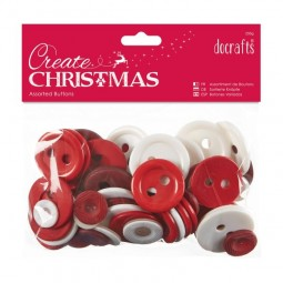 Create Christmas Assorted Buttons 250g Nordic Christmas