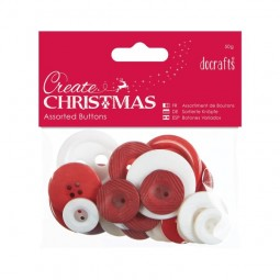 Create Christmas Assorted Buttons 50g Nordic Christmas