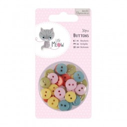 Papermania Little Meow Buttons