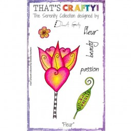 That´s Crafty Clearstamps Fleur