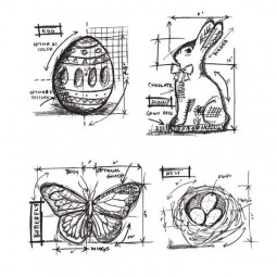 Tim Holtz Easter Blueprint
