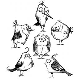 Tim Holtz Birds Crazy