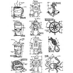Tim Holtz Mini Blueprints IX