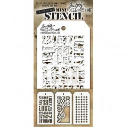 Tim Holtz Mini Stencil Set 001