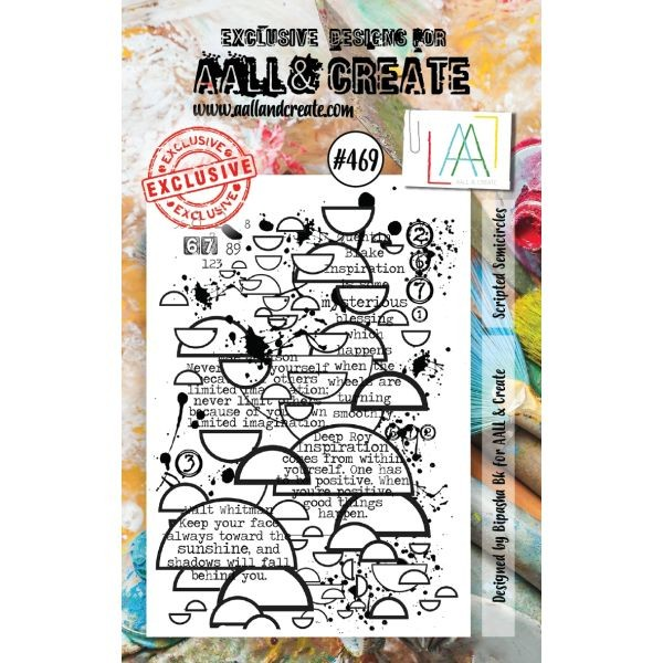 AALL & Create Clearstamps A7 No. 469 Scripted Semicircles
