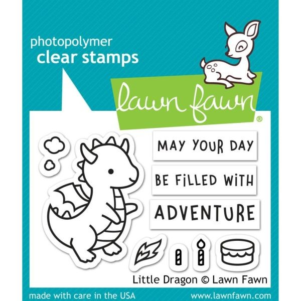 Lawn Fawn Clearstamps 2x3 Little Dragon