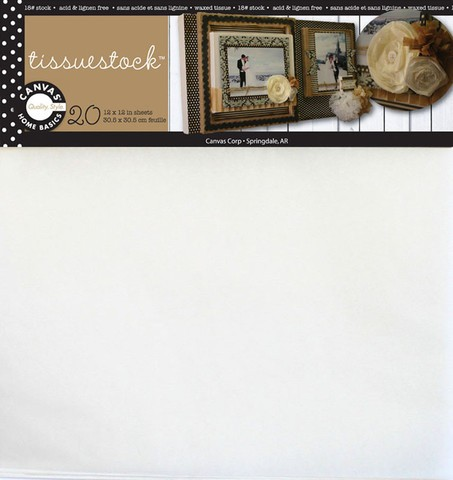 Canvas Corp Tissuestock 12x12 White
