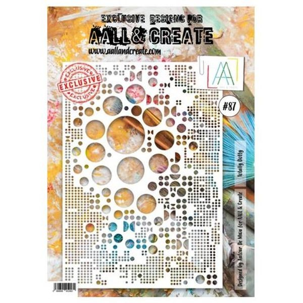 AALL & Create Stencil A4 No. 87 Totally Dotty