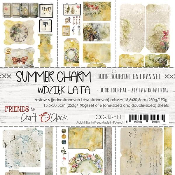 Craft o´Clock Summer Charm Junk Journal Extras-Set