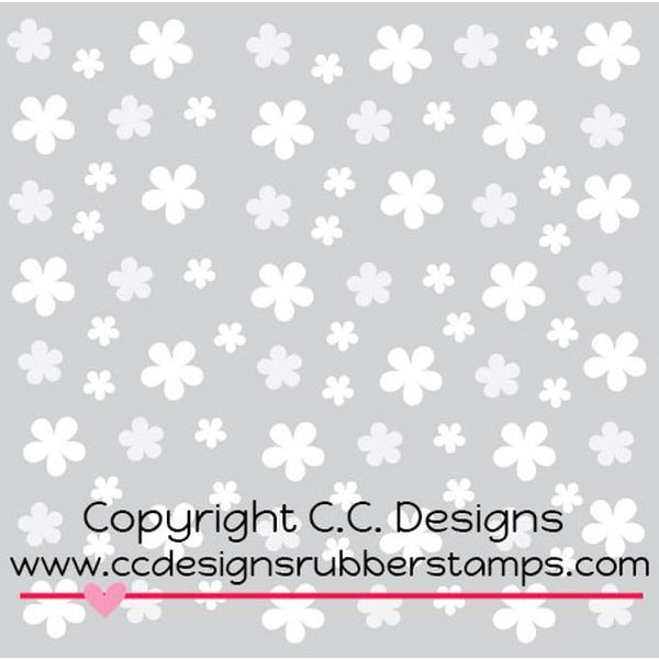 C.C. Designs Stencil Flowing Flowers