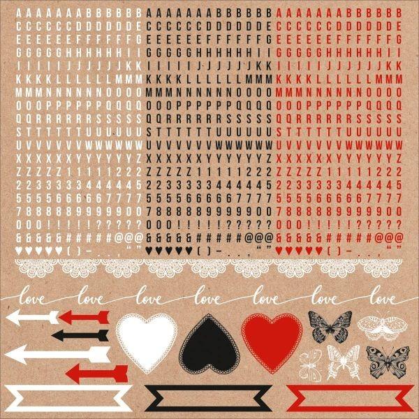 Kaisercraft Mix & Match Alpha Sticker Sheet