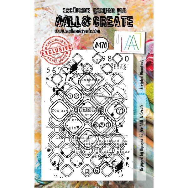 AALL & Create Clearstamps A7 No. 470 Scripted Diamonds