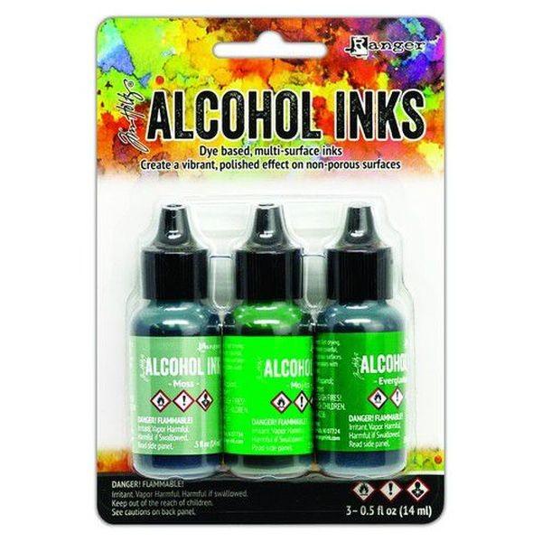 Tim Holtz Alcohol Ink Kit Mint-Green Spectrum