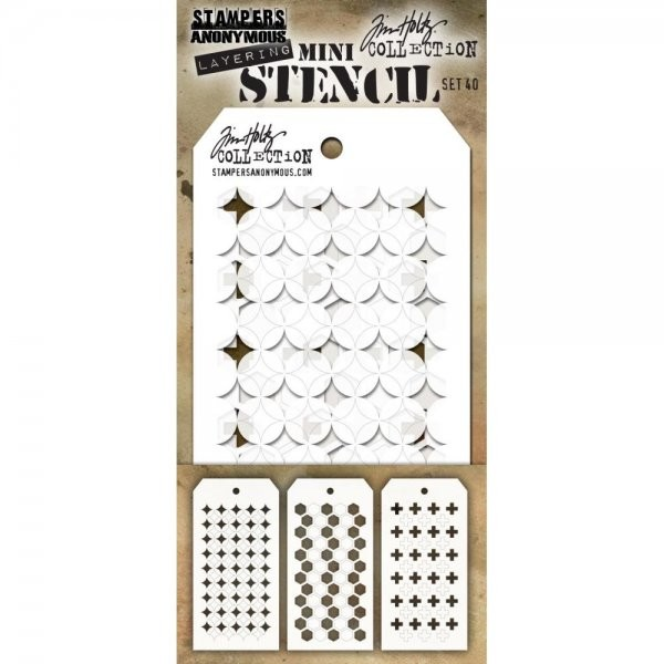 Tim Holtz Mini Stencil Set 040