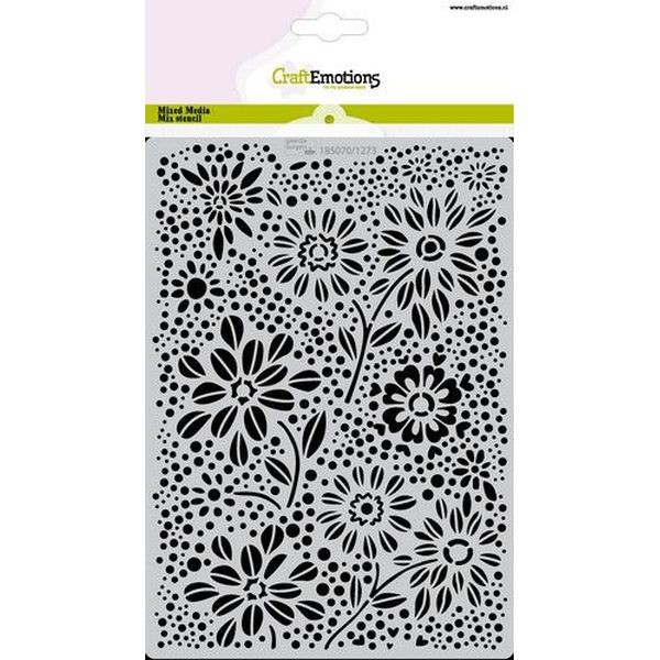 Craft Emotions Mask Stencil A5 Flowers & Dots