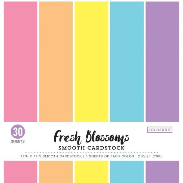 Colorbök Smooth Cardstock 12x12 Fresh Blossoms