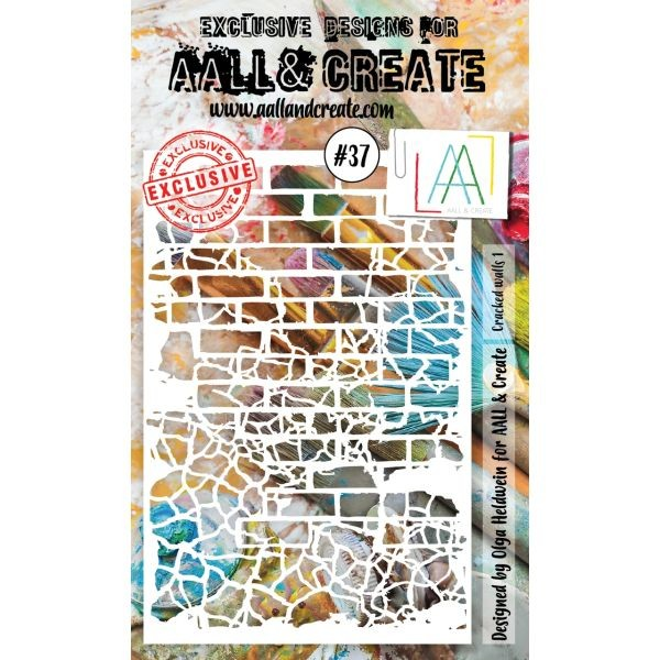 AALL & Create Stencil A6 No. 37 Cracked Walls I