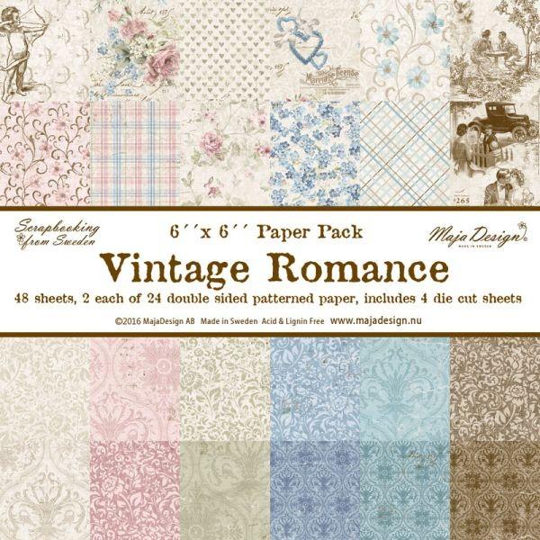Maja Design Vintage Romance Paper Stack 6x6