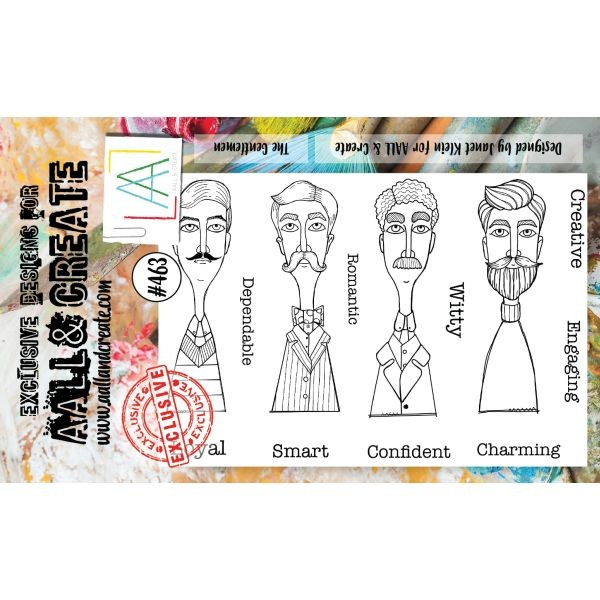 AALL & Create Clearstamps A6 No. 463 The Gentlemen