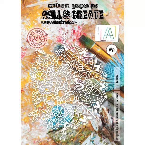 AALL & Create Stencil A4 No. 91 Panache