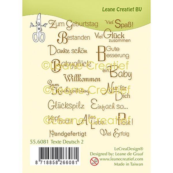 LeaCreadesign Clearstamps Texte Deutsch II