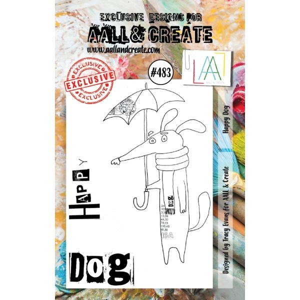 AALL & Create Clearstamps A7 No. 483 Happy Dog